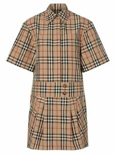 Burberry Vintage Check shirt dress - Brown