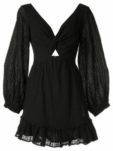 Suboo crossing twist front mini dress - Black