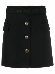 Givenchy fitted button detail skirt - Black