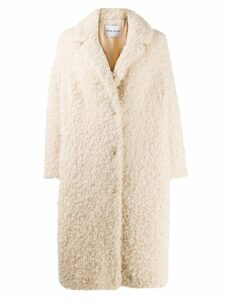 STAND STUDIO shearling button coat - Neutrals