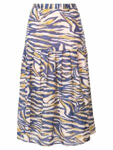 Suboo Into The Wilds midi skirt - Blue