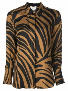 3.1 Phillip Lim abstract tiger-print blouse - Brown