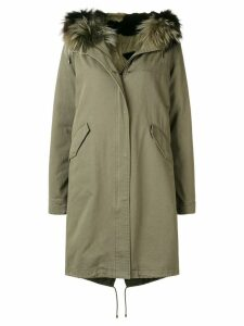 Yves Salomon Army loose parka coat - Green