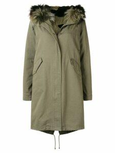 Yves Salomon Army loose parka coat - Green