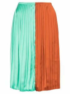 Plan C colour-block pleated midi skirt - Multicolour