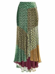 Silvia Tcherassi Delilah Sky asymmetric skirt - Green
