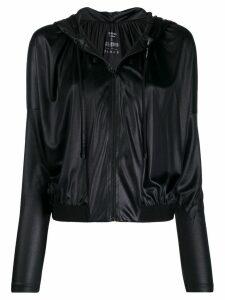 Pinko drawstring polished effect hoodie - Black