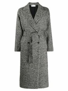 Red Valentino herringbone double breasted coat - Grey