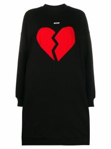 MSGM broken heart sweater - Black