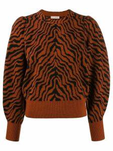 Ulla Johnson tiger stripe knit jumper - Brown