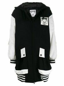 Moschino oversized zip up coat - Black