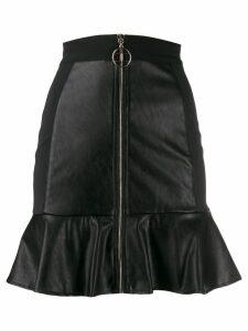 Elisabetta Franchi A-line ruffled skirt - Black