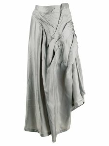 Ottolinger asymmetric crinkled skirt - Grey