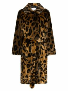 STAND STUDIO Irina leopard-print coat - Brown