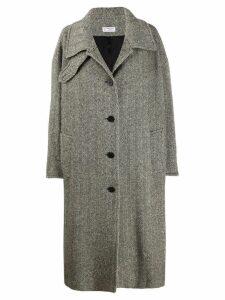 Alberto Biani herringbone oversized coat - NEUTRALS