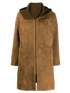Salvatore Santoro hooded coat - Brown