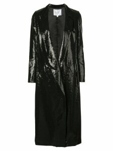 Galvan sequin embroidered coat - Black