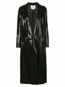 Galvan sequin embroidered coat - Black