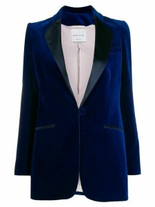 Hebe Studio velvet tailored blazer - Blue