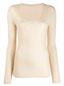 Majestic Filatures slim-fit ribbed knit top - Neutrals