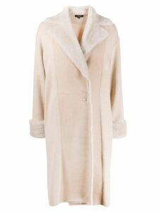 Antonelli panelled oversized coat - NEUTRALS