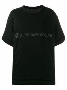 Mm6 Maison Margiela reversed logo T-shirt - Black