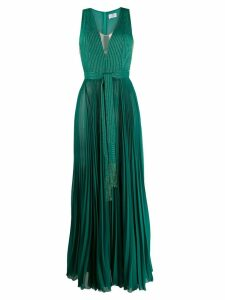 Elisabetta Franchi pleated long dress - Green