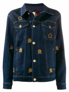 Tommy Hilfiger embroidered crest denim jacket - Blue