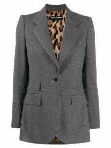 Dolce & Gabbana micro check print blazer - Grey