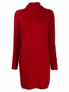 Sminfinity knit turtleneck dress - Red