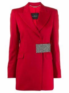 John Richmond glitter panel belted jacket - Red