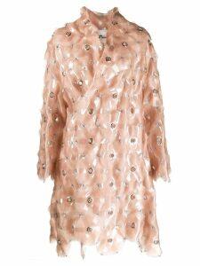 Comme Des Garçons Noir Kei Ninomiya eyelet detail oversized coat -