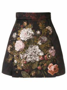 Dolce & Gabbana floral jacquard skirt - Black