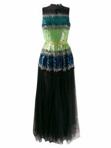 Elisabetta Franchi embellished sleeveless dress - Black