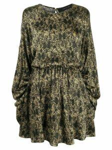 Federica Tosi geometric print shift dress - Black