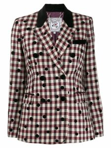 Tommy Hilfiger check double breasted blazer - Red