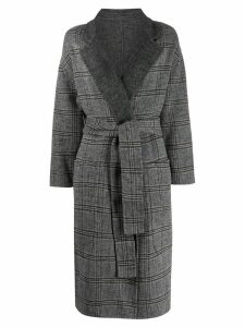 Twin-Set plaid check coat - Grey