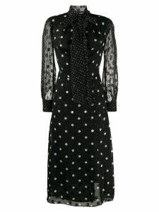 Tommy Hilfiger polka dot midi dress - Black