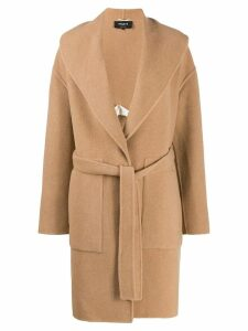 Rochas belted mid-length coat - Neutrals