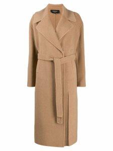 Rochas belted waist coat - Neutrals