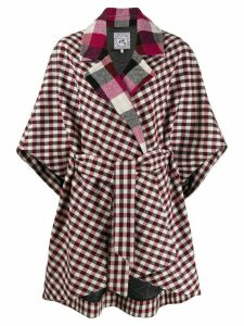 Tommy Hilfiger patchwork cape coat - Red