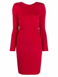 John Richmond slim fit shift dress - Red