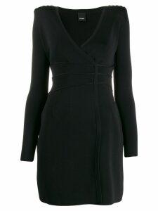 Pinko bead embroidered dress - Black