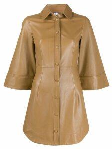 Ganni long line shirt dress - Brown
