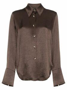 Nanushka Mandine collared shirt - Brown