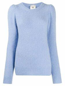 Semicouture puff-shoulder jumper - Blue