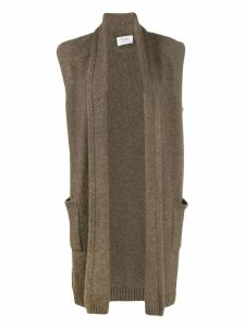 Snobby Sheep knitted midi gilet - Brown