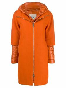 Herno layered zip-up coat - Orange