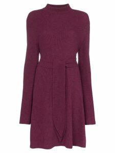 Nanushka Abhaya knotted merino wool dress - PURPLE