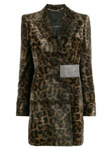 John Richmond leopard print blazer - Grey